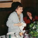 Gilda Preziotti nel 1993 alla festa per i suoi 90 anni (insieme alla figlia Anna). Foto Archivio Cedac