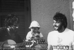 Giuliano Gemma con Nazzareno Zamperla